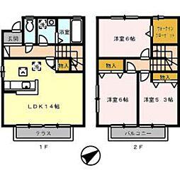 [テラスハウス] 広島県広島市西区高須4丁目 の賃貸【/】の間取り