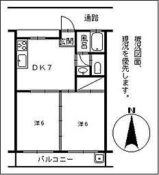 宮崎県宮崎市大字恒久6丁目の賃貸マンションの間取り