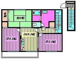 マロンフォレスタ[2階]の間取り