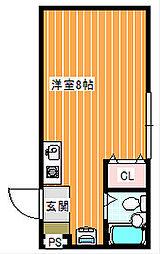 フラワー館住之江公園[307号室]の間取り