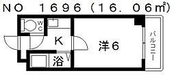 カルム四天王寺[11階]の間取り