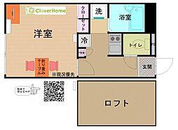 神奈川県厚木市林2丁目の賃貸アパートの間取り