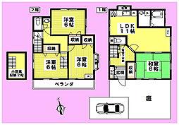 [一戸建] 東京都三鷹市井口1丁目 の賃貸【/】の間取り