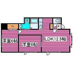 北海道札幌市北区太平十二条5丁目の賃貸アパートの間取り