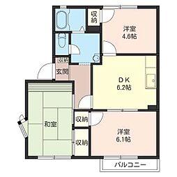 スモ−ルリバ−ハウス[1階]の間取り