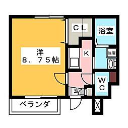 愛知県岡崎市矢作町字竊樹の賃貸アパートの間取り