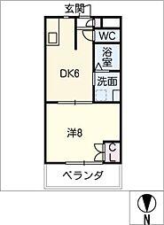 HILLOCK 167[1階]の間取り