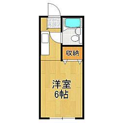 カーサ中田 1号棟[204号室]の間取り