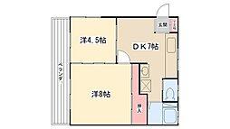 サンワコーポ[2階]の間取り
