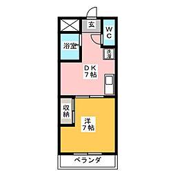 第5名昭ビル[6階]の間取り