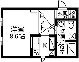 プリマ前橋壱番館204[2階]の間取り