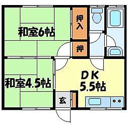吉田アパート[102号室]の間取り