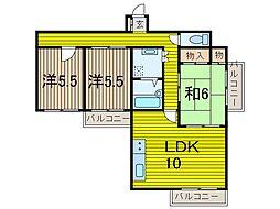 アメニティプラザ[5階]の間取り