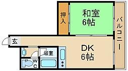 大阪府大阪市城東区永田3丁目の賃貸マンションの間取り