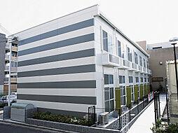 京都府京田辺市河原御影の賃貸アパートの外観