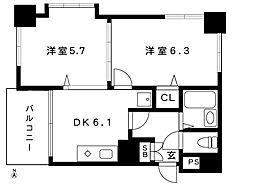 阪急神戸線 御影駅 8階建[3階]の間取り