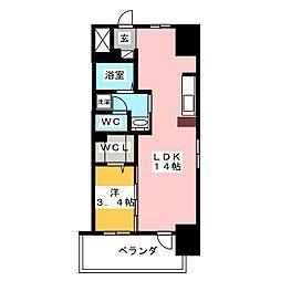 丸東レジデンス大須[13階]の間取り
