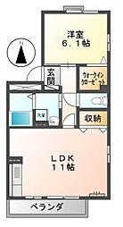 エクセルナオ[2階]の間取り