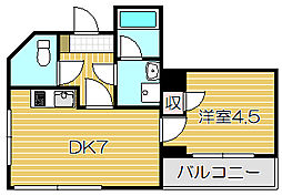 エクセルコートイズミ[3階]の間取り