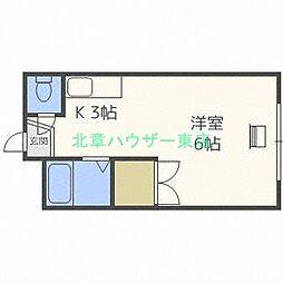北海道札幌市東区北二十三条東3の賃貸アパートの間取り