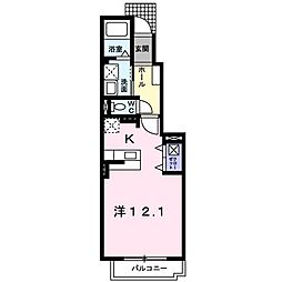 埼玉県志木市上宗岡3丁目の賃貸アパートの間取り