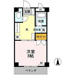大安寺マンション[2階]の間取り