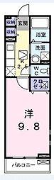 泉北高速鉄道 和泉中央駅 徒歩10分の賃貸アパート 2階1Kの間取り