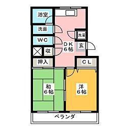 第1高杉マンション[2階]の間取り