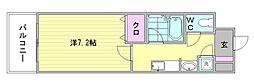 ピュアドームエクサイト博多[1105号室]の間取り