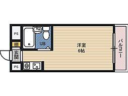 ジオナ関目 4階ワンルームの間取り