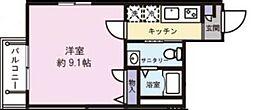 東京都品川区西大井1丁目の賃貸マンションの間取り