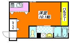 ビリーヴ・トレ 102号室[1階]の間取り
