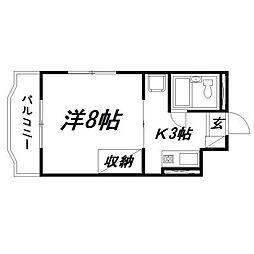 静岡県浜松市南区青屋町の賃貸マンションの間取り