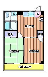 東京都日野市東豊田4丁目の賃貸マンションの間取り