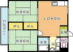 シャルムONO(シャルムオノ)[2階]の間取り