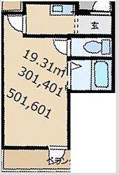 プレアール姫島[601号室]の間取り