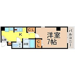 愛知県名古屋市千種区内山1丁目の賃貸アパートの間取り