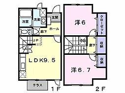 グリ−ンスクエアK[1階]の間取り