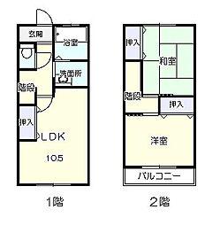 [テラスハウス] 神奈川県平塚市飯島 の賃貸【/】の間取り