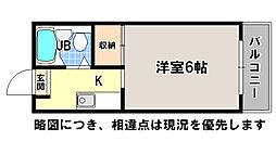 京都府京都市左京区下鴨西本町の賃貸マンションの間取り