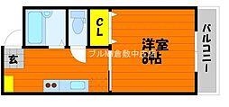 岡山県倉敷市新田の賃貸アパートの間取り
