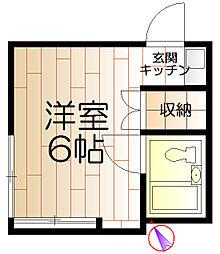佐藤アパート[206号室]の間取り