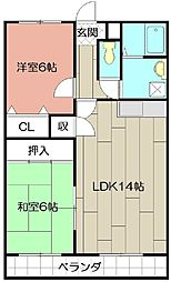 エルスール湯川弐番館[205号室]の間取り