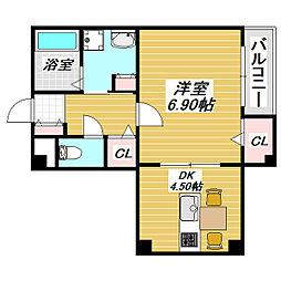 沢ノ町駅前88マンション[4階]の間取り