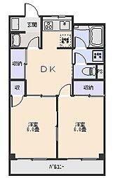 本木マンション[2階]の間取り