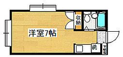 藤間コーポ1[2階]の間取り