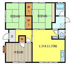 埼玉県ふじみ野市大井中央3丁目の賃貸アパートの間取り