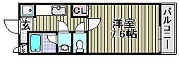 Kアビテ[206号室]の間取り