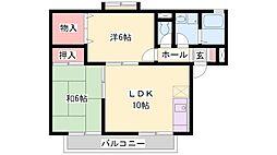 兵庫県加古郡播磨町野添の賃貸アパートの間取り