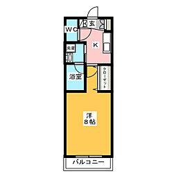 HY`sVigor墨田 4階1Kの間取り